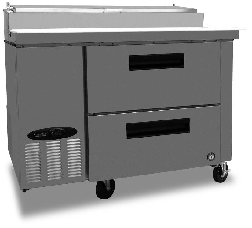 Commercial series pizza prep table w/drawers-0