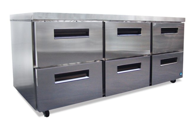 Commercial series undercounter refrig. with drawers-0