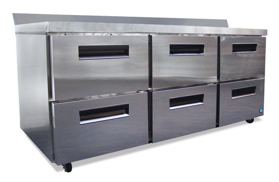 Commercial series worktop refrigerator with drawers-0
