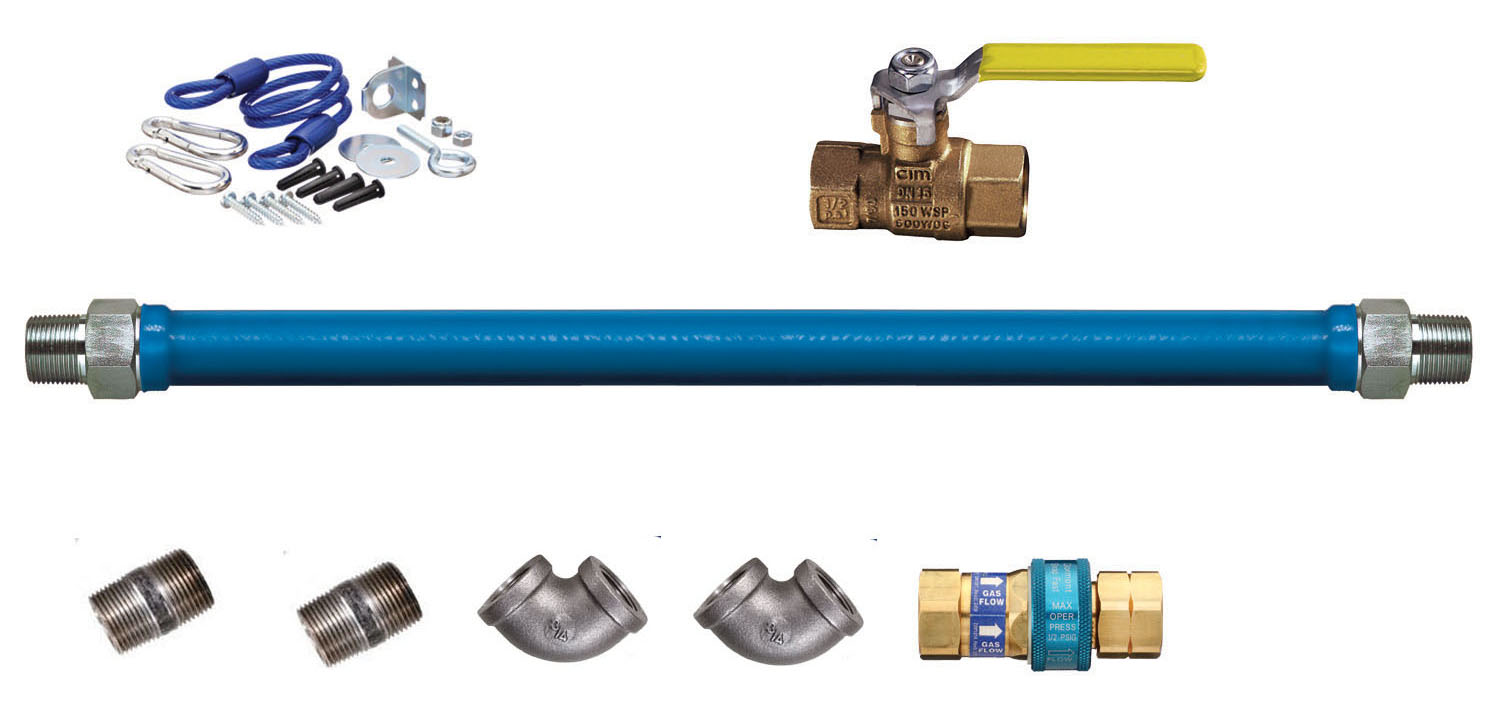Blue hose gas connector safety system kits-0