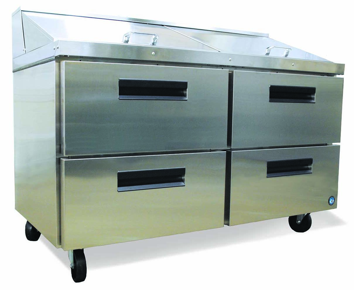 Commercial series mega top sandwich refrigerators w/ drawers-0
